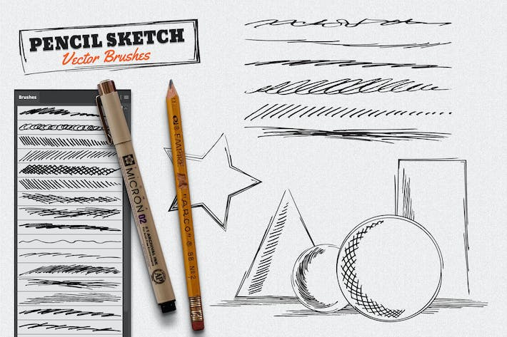 Thumbnail for Vector Pencil Sketch Brushes