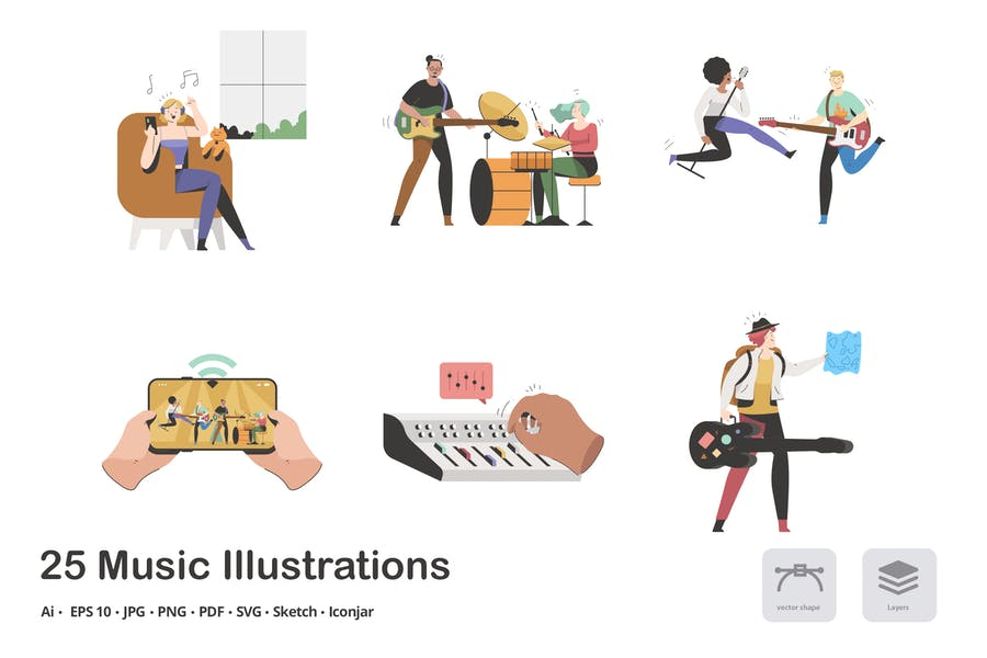 Musik Calma Illustrationspaket
