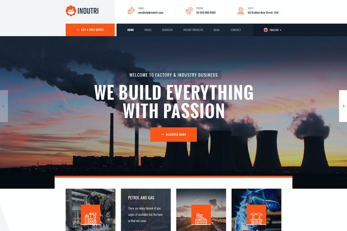 Thumbnail for Indutri – Factory & Industrial WordPress Theme
