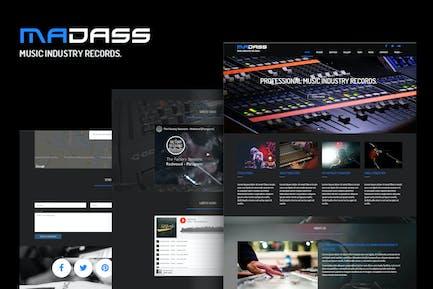 Madass - Musikindustrie HTML Vorlage