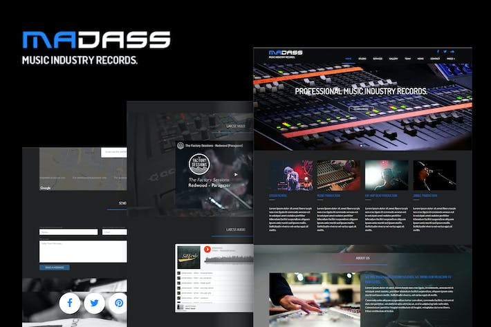 Thumbnail for Madass - Music Industry HTML Template