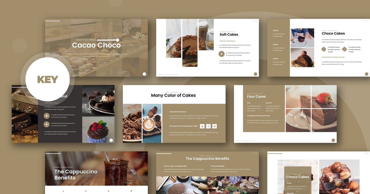 Download Cacao Choco - Keynote Template by karkunstudio
