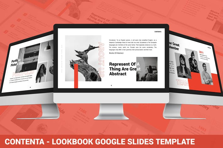Thumbnail for Contenta - Lookbook Google Slides Template