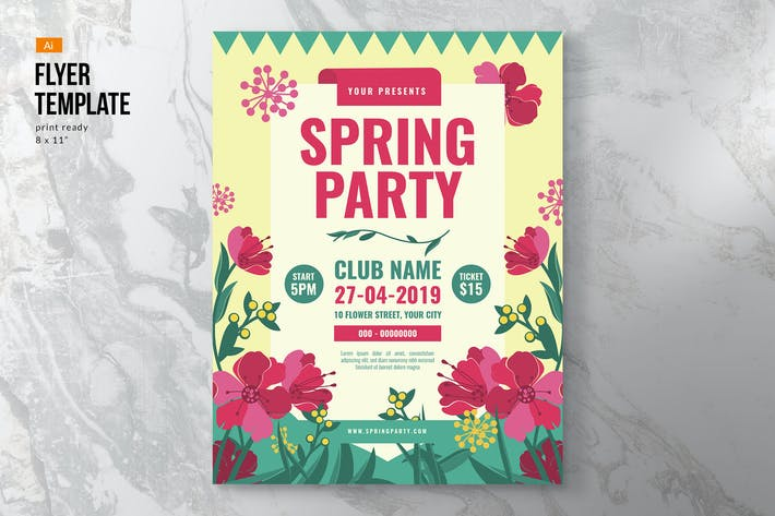 Thumbnail for Colorful Spring Flyer Template