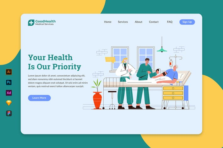 Thumbnail for Healthcare & Medical - Landing Page