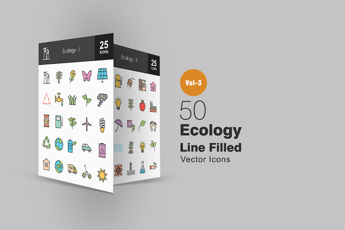 Thumbnail for 50 Ecology Line Filled Icons