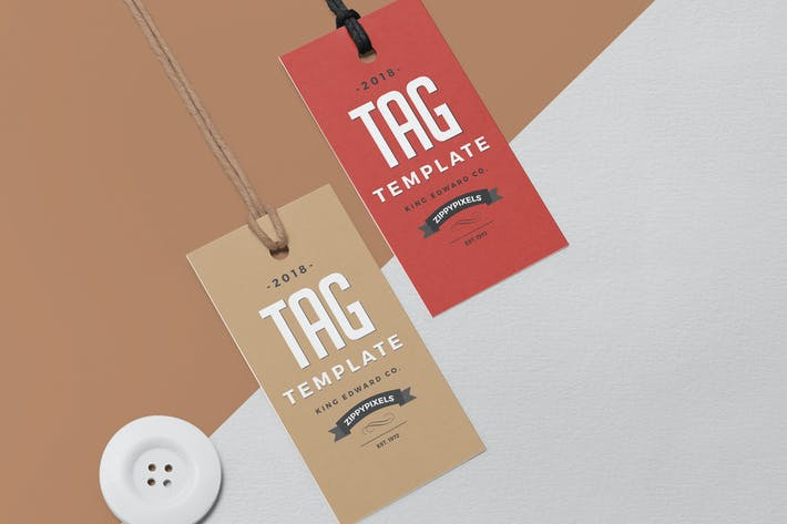 Thumbnail for Apparel Swing Tag Design Template