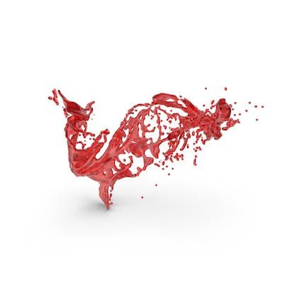 Efecto de barra líquida roja