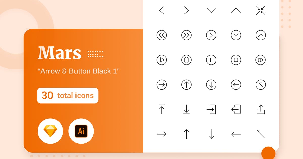 Download Mars - Arrow & Button Black 1 by sudutlancip