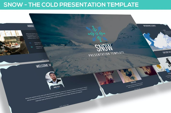 Thumbnail for SNOW POWERPOINT PRESENTATION TEMPLATE