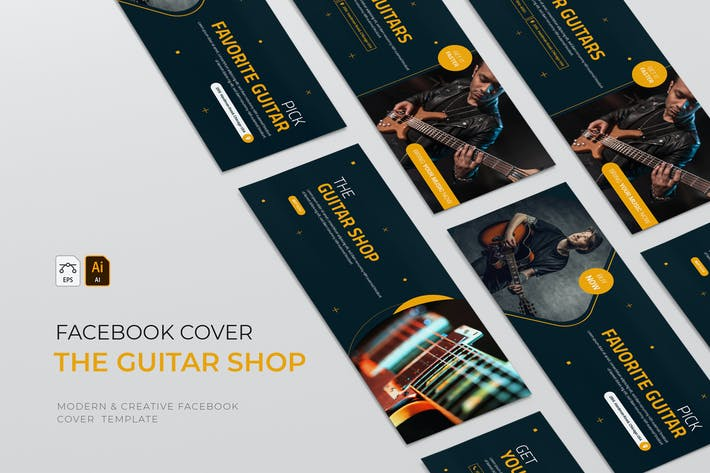 Thumbnail for Guitar Shop | Facebook Cover