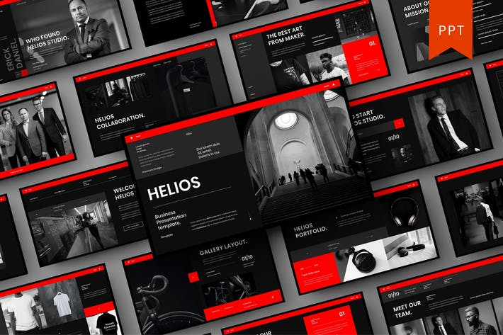 Helios — бизнес-шаблон PowerPoint