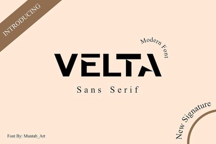 Thumbnail for Velta | Современный шрифт