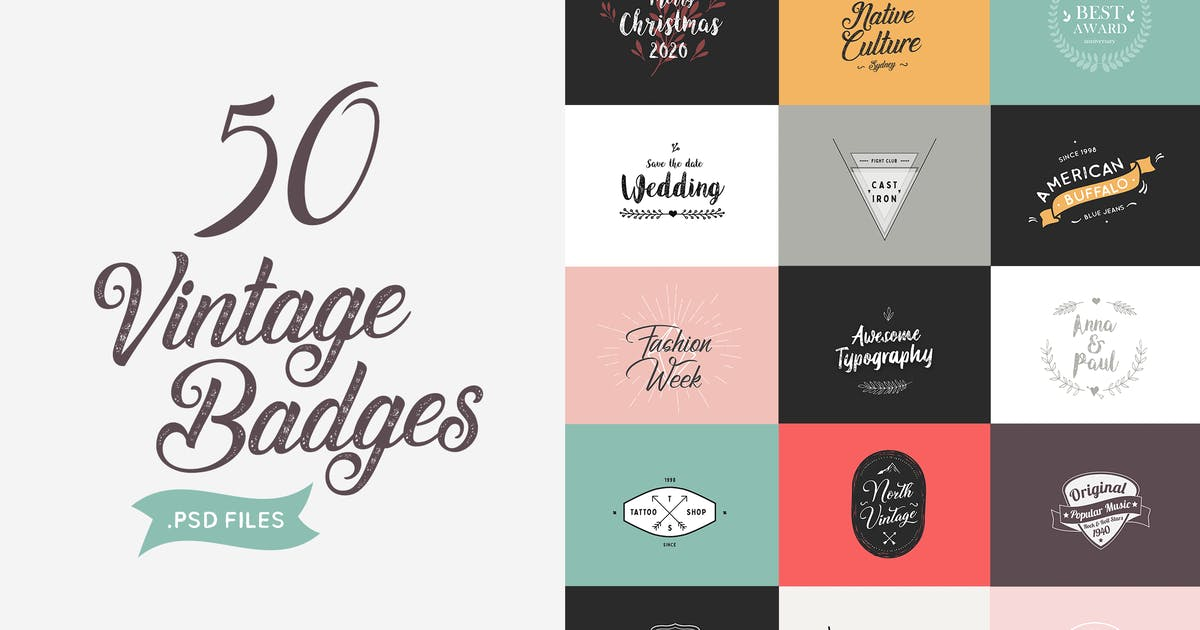 Download Vintage Badges by Pixflow