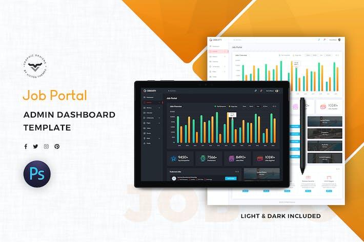 Thumbnail for Job Portal Admin Dashboard UI Kit