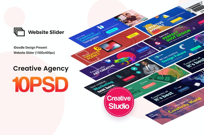 Thumbnail for Creative Agency, Startup, Studio Website Sliders