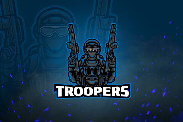 Thumbnail for Shooters Mascot & Esport Logo V4 - Troopers