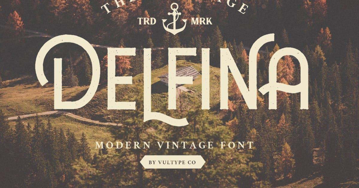 Download Delfina Vintage Font by vultype