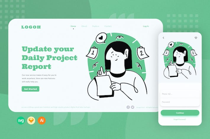 Daily Project Web Onboarding Illustration