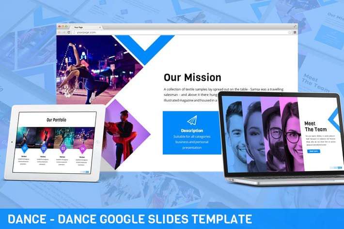 Thumbnail for Dance - Dance Google Slides Template