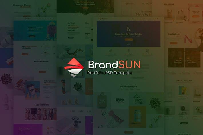 Thumbnail for Brandsun - Multipurpose PSD Template