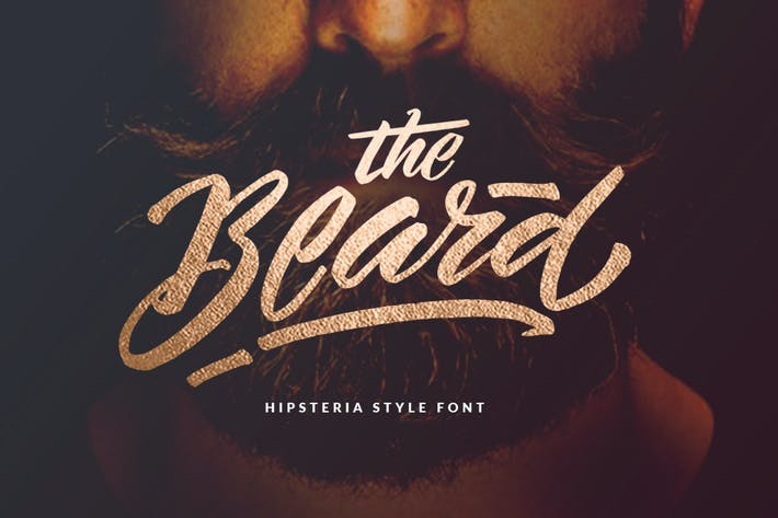 Thumbnail for The Beard - Branded Typeface +Extras