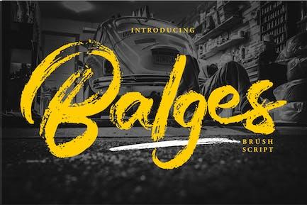 Balges | Decorative Brush Script Font