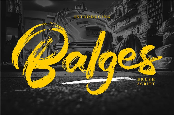 Thumbnail for Balges | Decorative Brush Script Font