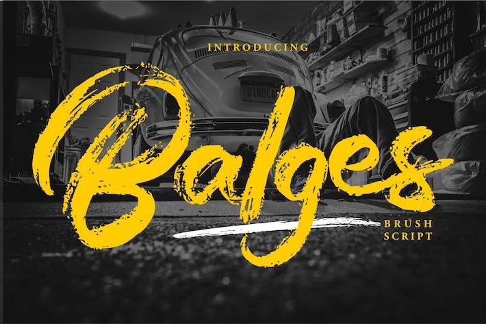 Thumbnail for Balges | Police de script de pinceau décoratif