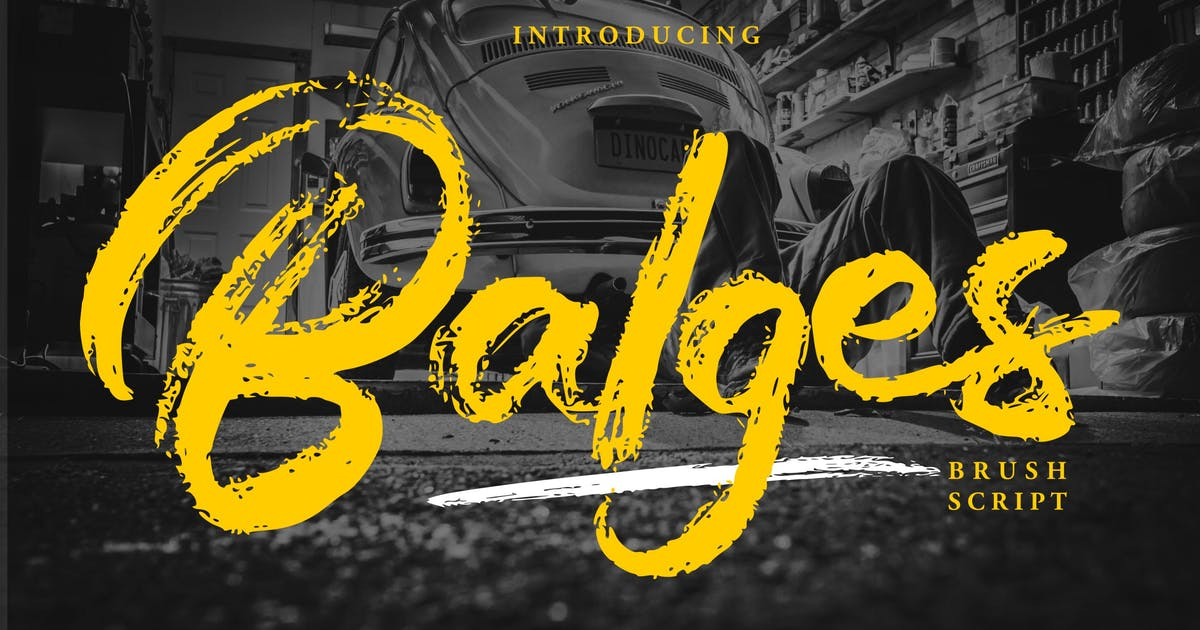 Download Balges | Decorative Brush Script Font by Vunira