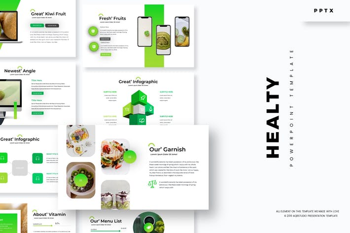 Thumbnail for Healty Fruits - Powerpoint Template