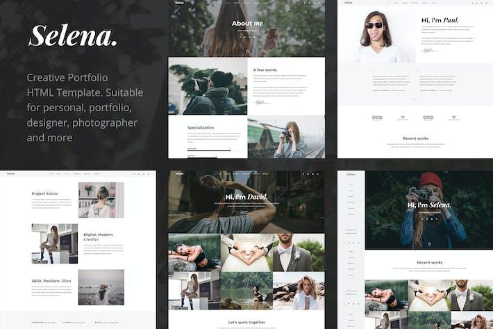 Thumbnail for Selena. - Portfolio & Personal HTML Template