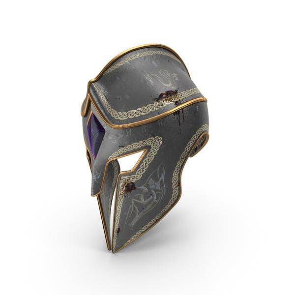 Боевой изношенные фэнтези шлем
