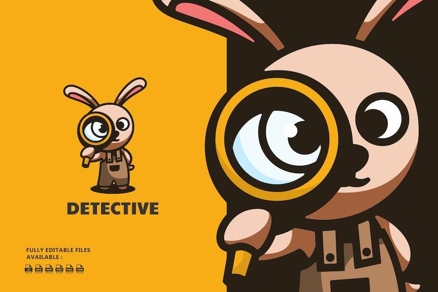 Bunny Cartoon Character Logo