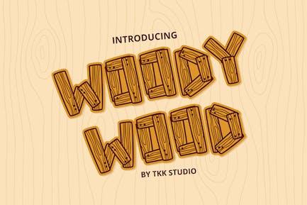 Woody Wood - Kids font