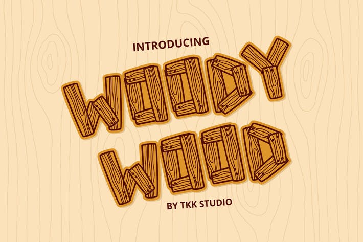 Thumbnail for Woody Wood - Wood Plank font