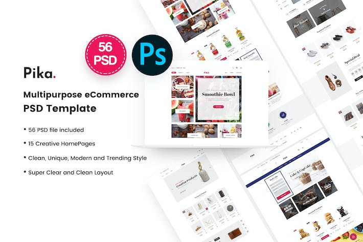 Thumbnail for Pika - Multi Concept eCommerce PSD Template