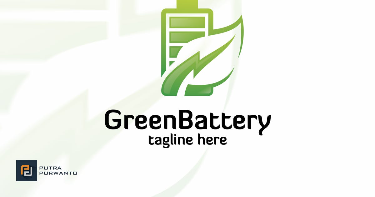 Download Green Battery - Logo Template by putra_purwanto