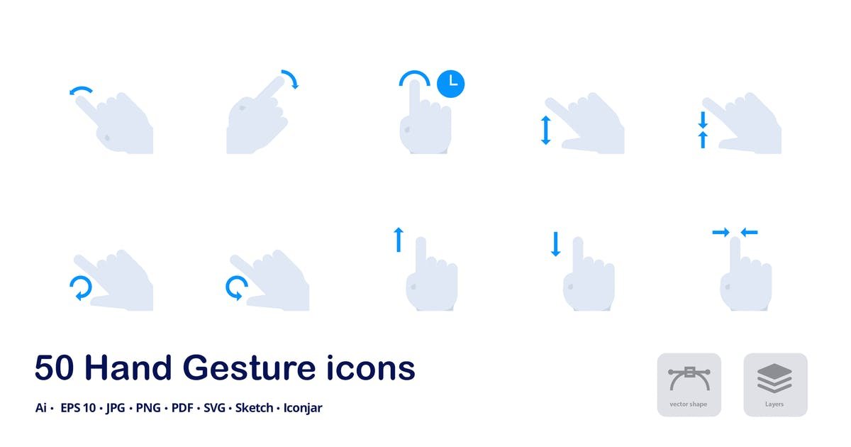 Download Hand Gestures Accent Duo Tone Flat Icons by roundicons