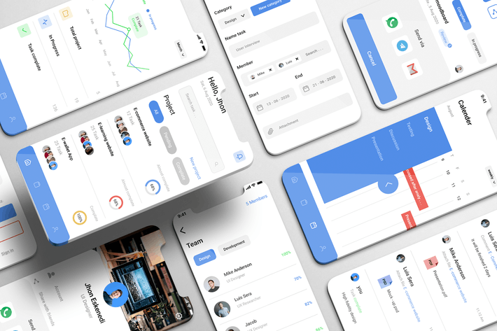 Thumbnail for Projecto UI Kit - Project Management Apps