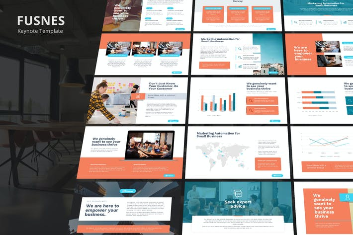 Thumbnail for Fusnes - Corporate Business Keynote Template