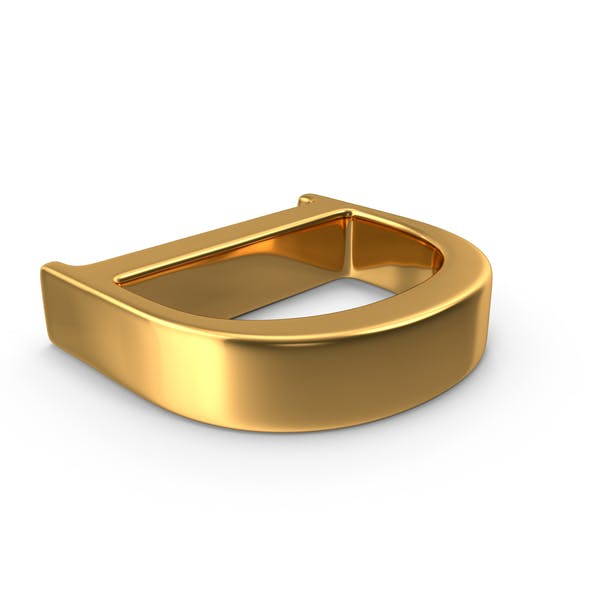 Thumbnail for Gold Capital Letter D