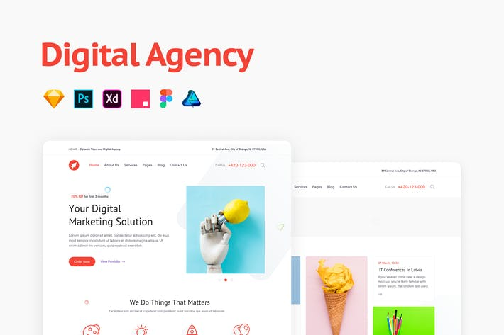 Thumbnail for Digital Agency Portfolio Template
