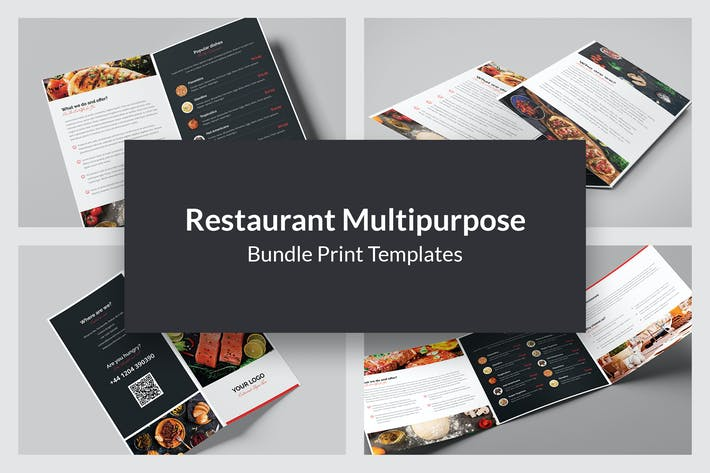 Thumbnail for Restaurant – Bundle Print Templates 5 in 1