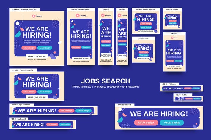 Thumbnail for Jobs Search Banners Ad