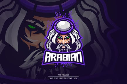 Arabian man esport logo