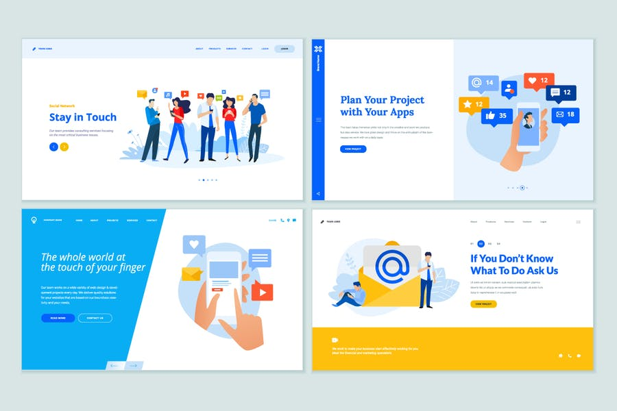 Web Page Design Templates Collection