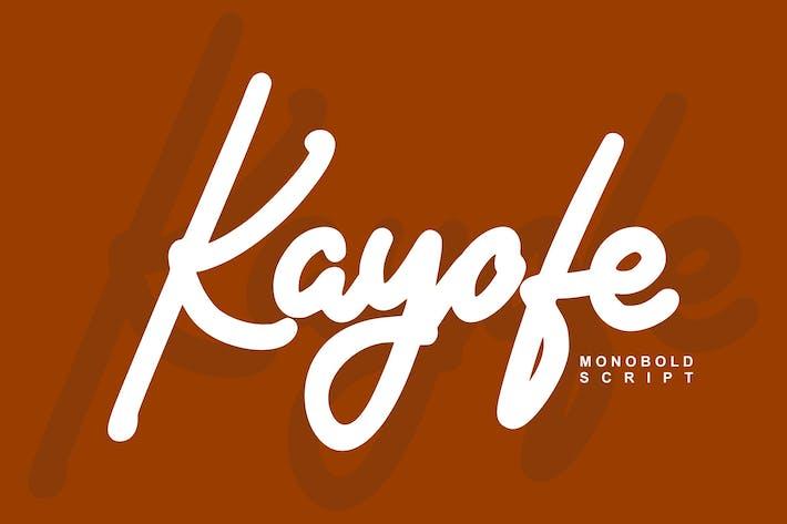 Thumbnail for Kayofe Monobold Script