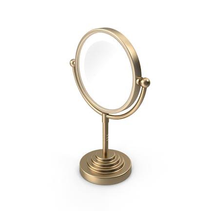 Gold Round Magnifying Led Illuminated Bathroom Mirrors
