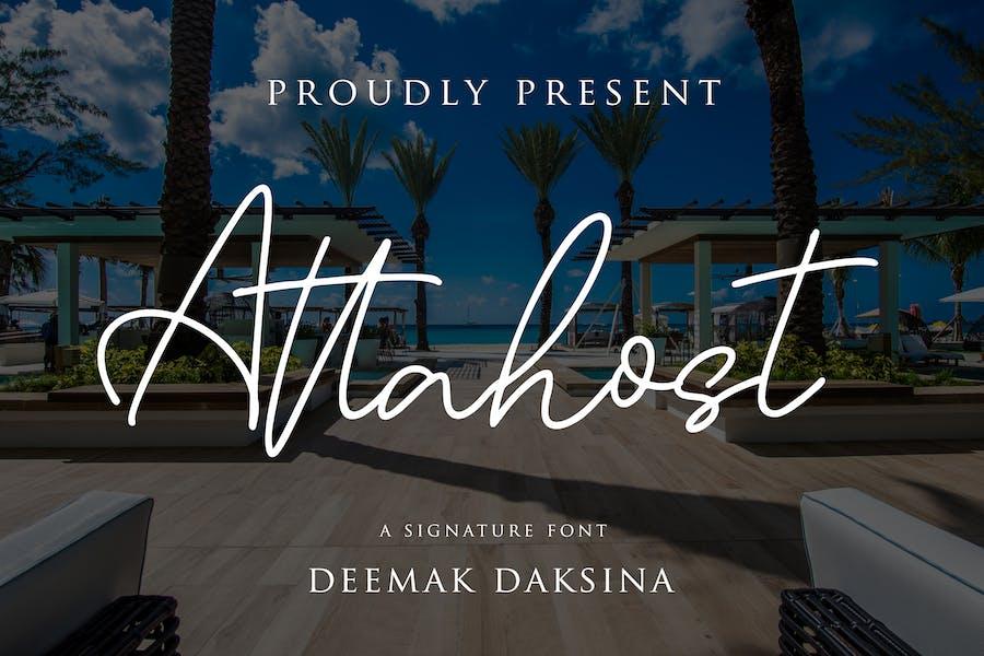 Attahost - Simple and Elegant Signature